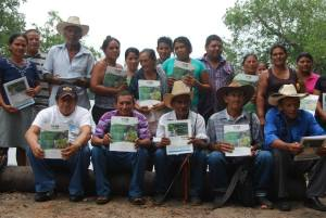 Community members in the Bajo Lempa speak out against tourism development on their lands. Photo: Voices on the Border.