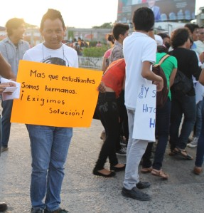 """""""More than students, we are brothers. We demand a solution!"""""""
